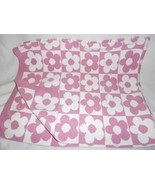 Dwell Studio for Target Knit Flower Square Baby Blanket White Pink Purple - $29.58