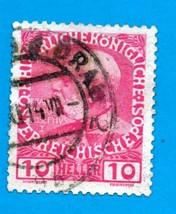 Used Austria Postage Stamp (1908) 10h Emperor Franz Josef I - Scott #115 - $2.99