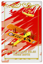 Tiger Moth Reproduction Aviation Sign 12×18 - $19.80