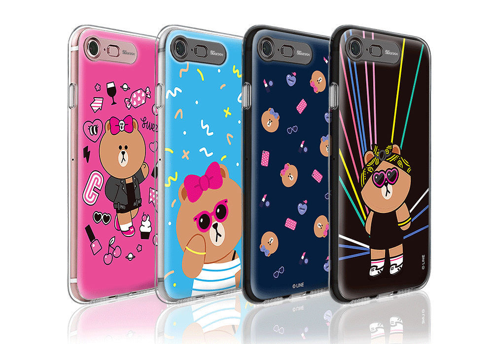 LINE Friends CHOCO Premium Light UP Case iPhone 7/7 Plus Character Cover Mobile