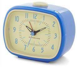 Retro Alarm Clock Blue Kikkerland Battery Operated Glow In The Dark AC08-BC - €15,60 EUR