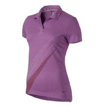 Nike Womens Dri-Fit Sports Swoosh Golf Polo Shirt Lilac - $69.29