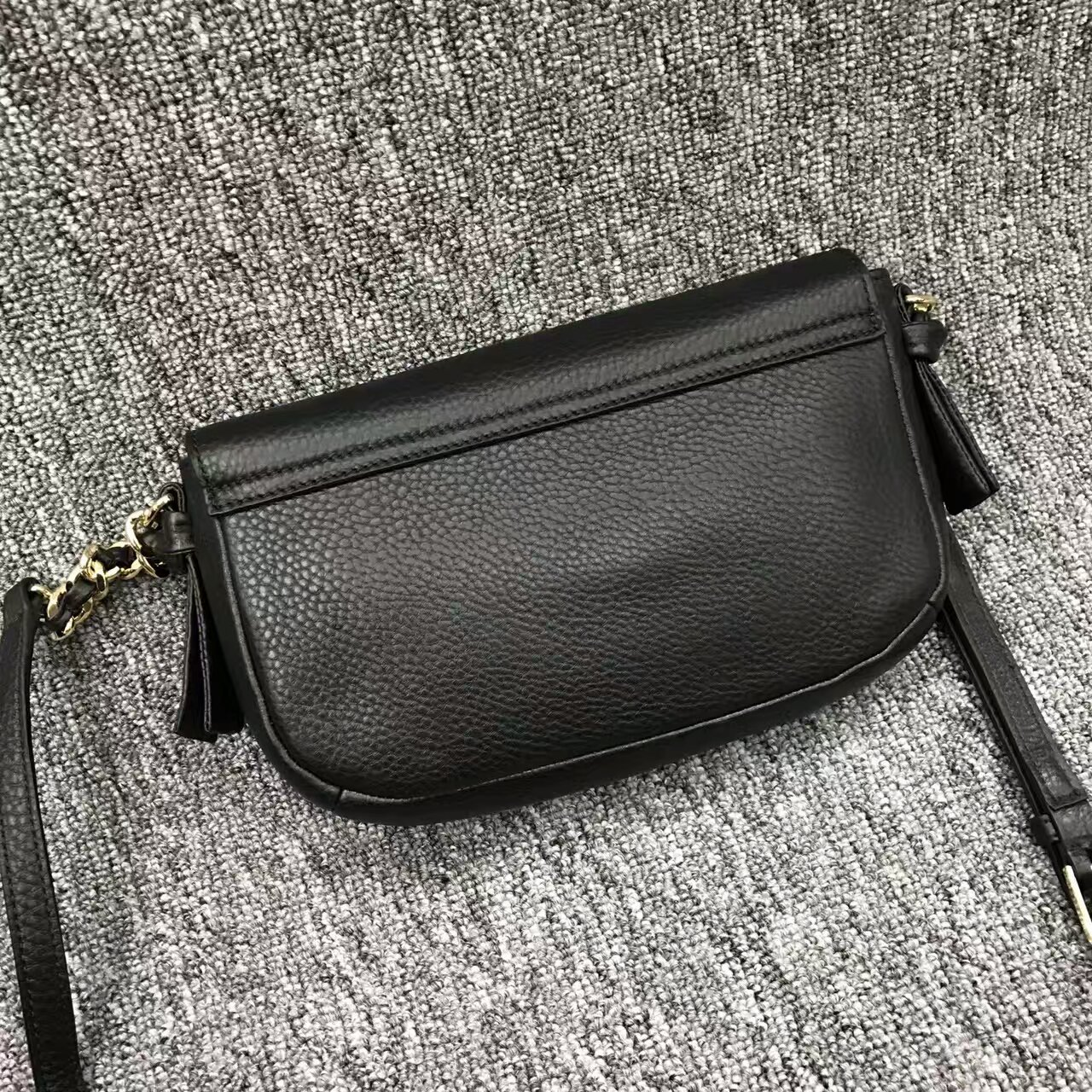 Tory Burch Black Harper Mini Cross Body Bag