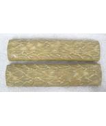 2 Older Pratt & Larson Tile Leaf Petal Bar Gold Tone Round Top 7 1/2 x 1... - $24.26
