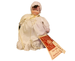 Dynasty Doll Collection Porcelain Doll Baby Lucy Christening White Dress... - $32.67