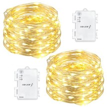 Oak Leaf 60-LED Fairy Lights,2-Pack Battery Operated String Lights,Warm ... - $18.08