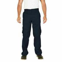Men's Classic Multi-Pocket Casual Military Navy Cargo Pants Trousers - 38x30