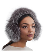 Authentic NWT Eric Javits NYC Designer Women's Hat - Pur Ear Muffs in Silver Fox - $122.55