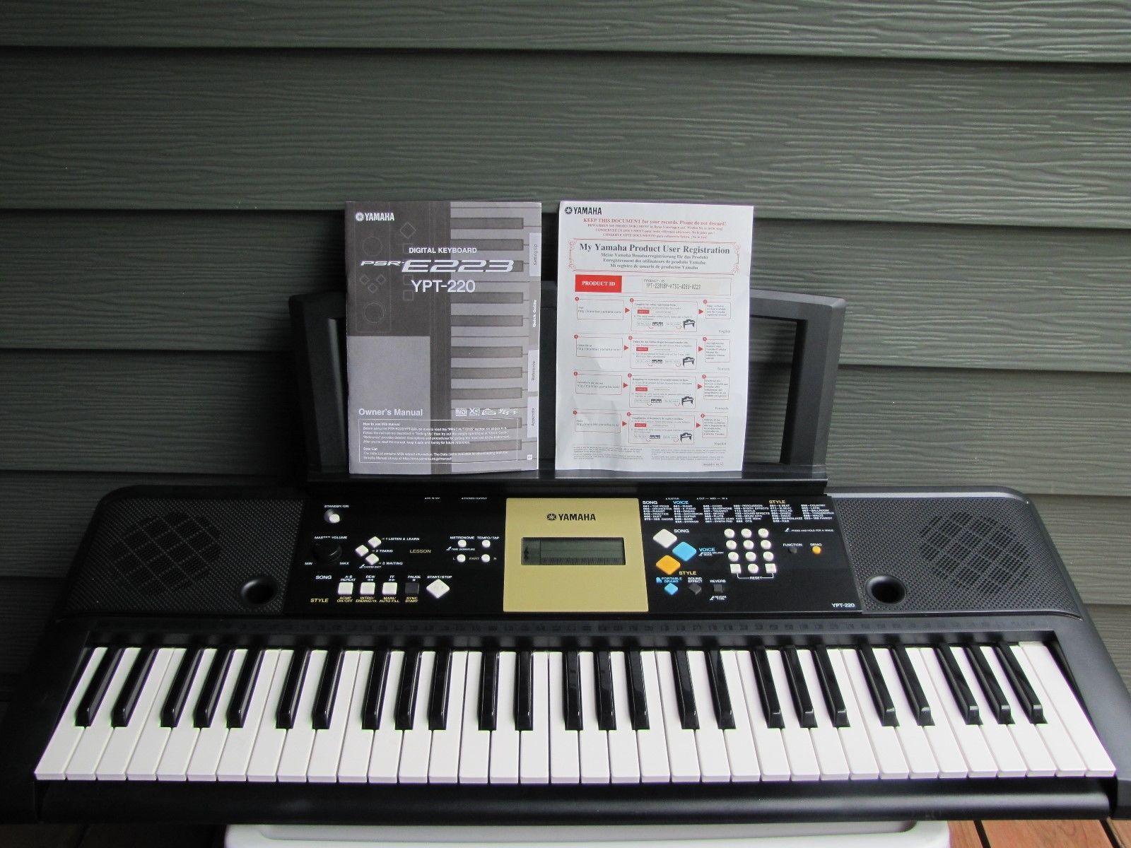 yamaha electronic keyboard model ypt 220 iob and 50 similar items rh bonanza com User Manual User Manual