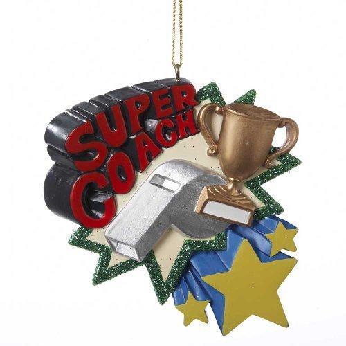 "Kurt Adler ""Super Coach"" Christmas Ornament - $15.00"