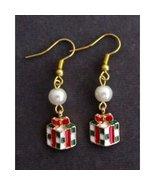 Gift Box Earrings,Christmas Earrings Christmas jewelry,Christmas Gift Box  - $9.60