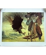 Chester Fields Print Two Eagles 20in x 24in Signed 92/750 - $89.63