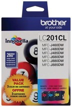 Brother Genuine Standard Yield Color Ink Cartridges, LC2013PKS, Replacem... - $35.49