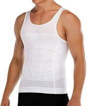 Mens Slimming Body Shaper Vest to Hide Man Boobs Shapewear Compression S... - $33.70
