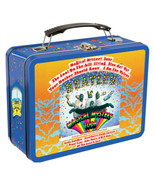 The Beatles Magical Mystery Tour Album Images Large Tin Tote Lunchbox NE... - $14.50