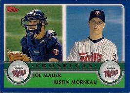 2003 Topps Joe Mauer Justin Morneau Rookie #680 Minnesota Twins  - $3.00
