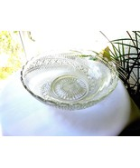 "Strahlen Antique German Radenburg 10"" Clear Glass Bowl  c 1850-1899 Signed - $19.80"