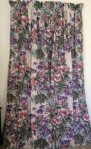 """Croscill Tropical Floral Lined Curtain Panels 81"""" Total Width Cinnamon P... - $36.63"""