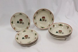 Joy of Christmas Bread Plates and Bowls Set of 8 - $30.87
