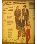 UNCUT Sewing Pattern 1992 McCALL'S 10,12,14 JACKET Lining CULOTTES 6176 ... - $4.51