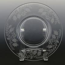 Tiffin Fuchsia Elegant Glass Plate Luncheon Plates a set of 8 image 12