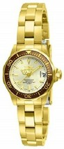 Invicta Women's Ladies Watch Pro Diver Quartz Stainless Steel Gold Ion-Plated - $79.99