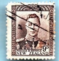 1947 New Zealand Used Postage Stamp - King George VI (Scott 264) - $3.99