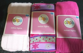 CIRCO Girls Winter Cotton Tights Pink Size 12-14 Lot of 3 light pink - $29.99