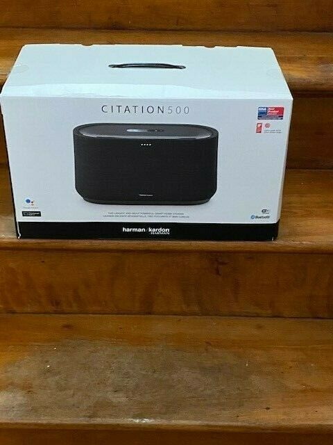 Harman Kardon Citation 500 Large Tabletop Smart Home Loudspeaker System-Black