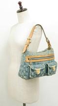 Authentic LOUIS VUITTON Baggy PM Blue Denim Shoulder Tote Bag Purse #34953 image 2