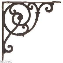 "Decorative Cast Iron Wall Shelf Bracket Brace DIY Craft Ornate Vine Rust 10"" D - $17.21"