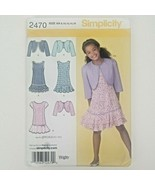 Simplicity 2470 Girls Dress and Bolero Sizes 8/10/12/14/16 UNCUT - $14.26