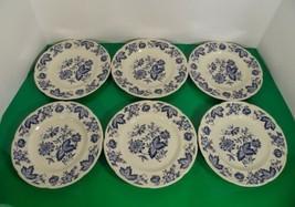 Johnson Brothers MALVERN BLUE Salad or Dessert Plate (s) LOT OF 6 Windso... - $27.67