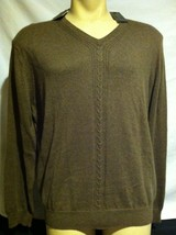 Tasso Elba Cocoa Brown cotton cashmere blend pullover sweater XL $90 New - $28.40