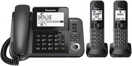 Panasonic KX-TGF382M Link2Cell Bluetooth 1 Corded 2 Cordless Phones w/ A... - $99.95
