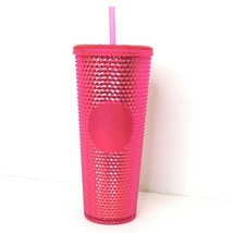 Starbucks 2019 Holiday Pink Red Studded Tumbler Christmas 24 oz Lid & St... - $59.39
