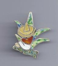 Vtg Jeronimo Fuentes Mexico Sterling Silver Guilloche Hombre Cactus Broo... - $45.00