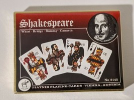 Shakespeare Piatnik Whist Bridge Playing Cards Vienna Austria No 2145 New  - $18.69