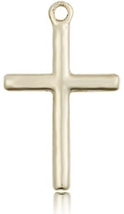 CROSS - 14 KT Gold Medal Pendant -  with No Chain - 0017Y