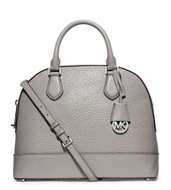 NWT MICHAEL Michael Kors Smythe Gray Leather Co... - $228.00