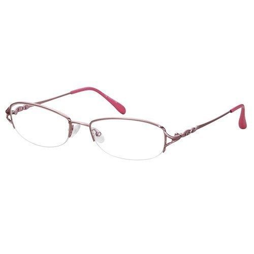 5f91b4af5921 S l1600. S l1600. Previous. EBE Womens Pink Shield Half Rim Regular Hinge Reading  Glasses Stainless Steel