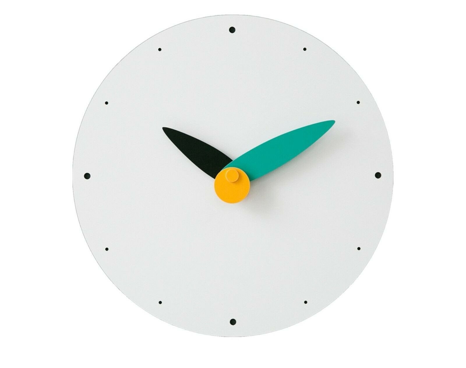 Moro Design Spread the Wings Wall Clock non Ticking Silent Modern Clock (Mint)