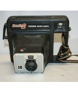 Vintage Kodak Handle2 Instant Film Camera with Case. Rainbow Carry Strap... - $19.79