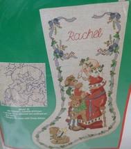 Dimensions Christmas Santa and Bears Stocking Cross Stitch Kit #8409 1990 - $20.00