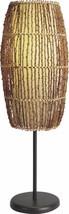 Alluring Oval Shaped Ceramic & Metal Table Lamp Brown - Benzara - $142.99