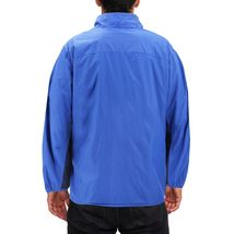 Men's Water Resistant Two Toned Windbreaker Zipper Nylon Rain Jacket image 3