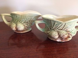 Vintage McCoy Pottery Pine Cone Sugar and Creamer Set - $22.76