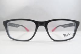 Ray-Ban RB 7063F 5418 Shiny Black / Red New Eyeglasses 54mm - 210 - $80.39