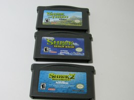 Lot of 3 Game Boy Advance Shrek Games 1-3 | Tested and Working | CARTRID... - $11.83