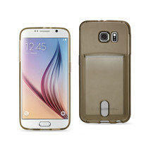 REIKO SAMSUNG GALAXY S6REIKO SEMI CLEAR CASE WITH CARD HOLDER IN CLEAR B... - $6.75